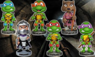 These Bobble Heads Are Green Cowabunga Dudes
