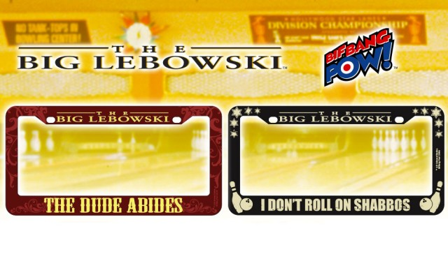 Big Lebowski License Plate Frames