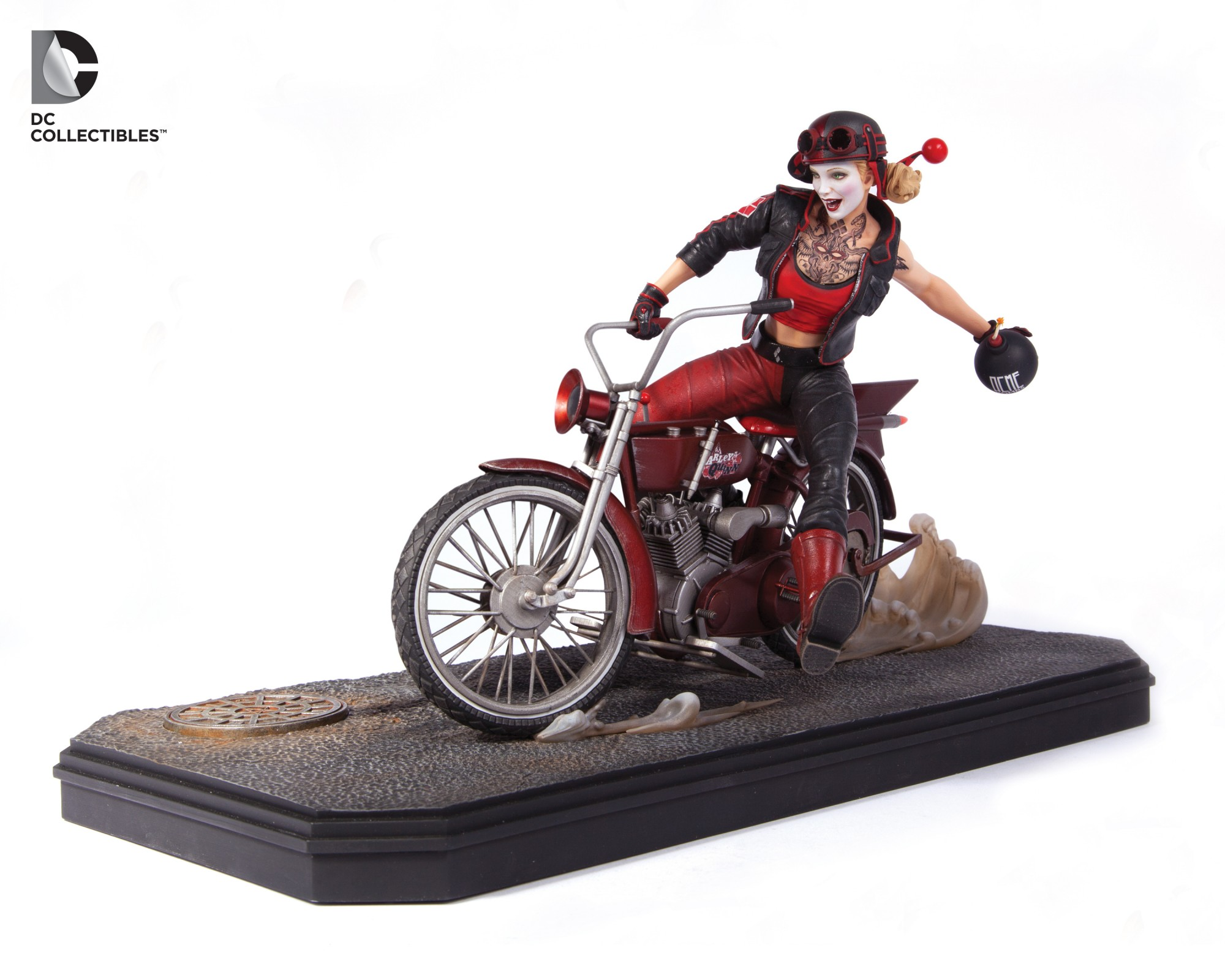 Harley Quinn Rides Up From The Gotham City Garage