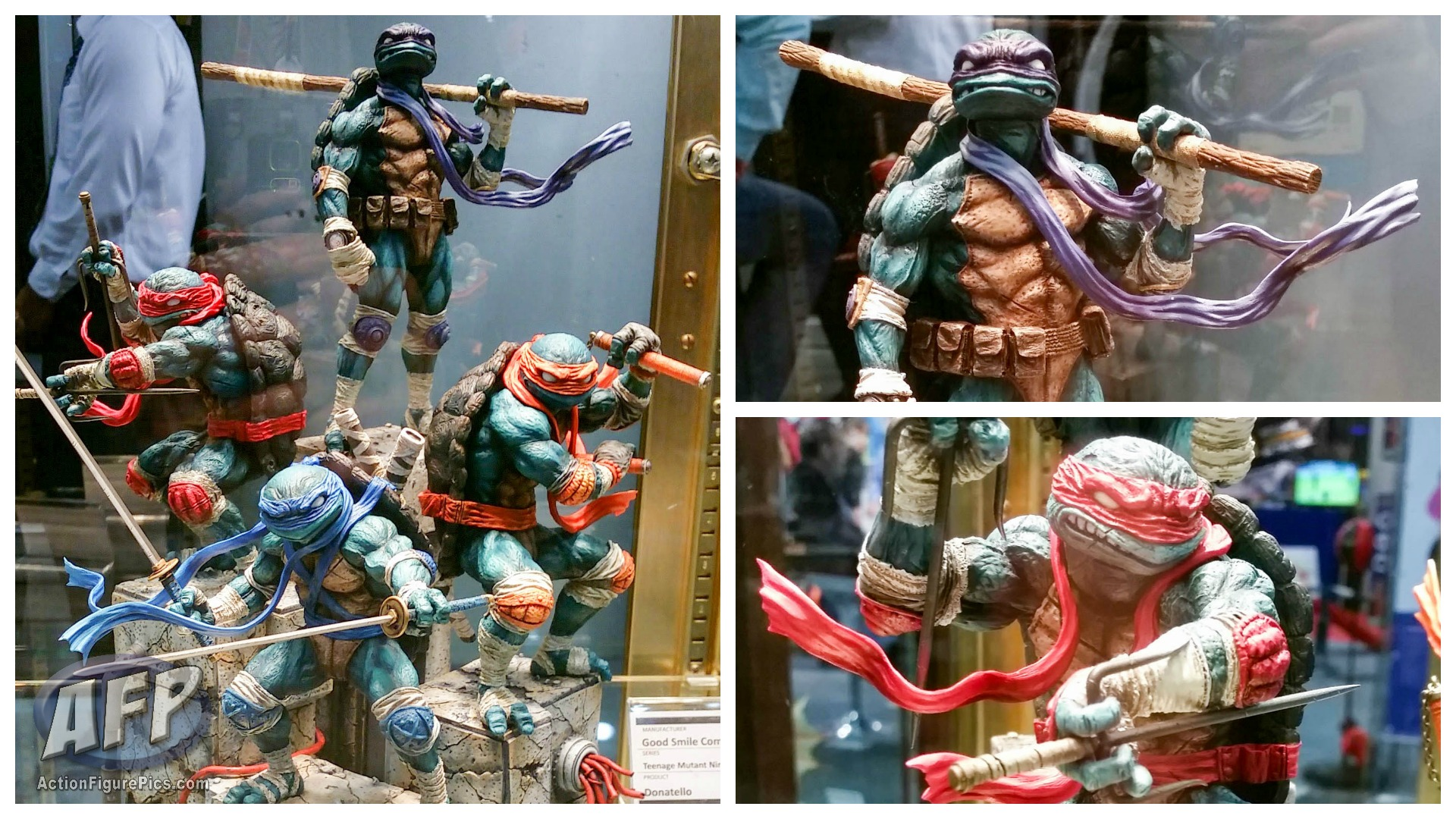 Toy-Fair-2015-Good-Smile-TMNT-statues