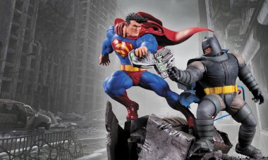 The Man of Steel and Dark Knight Face Off in Crime Alley