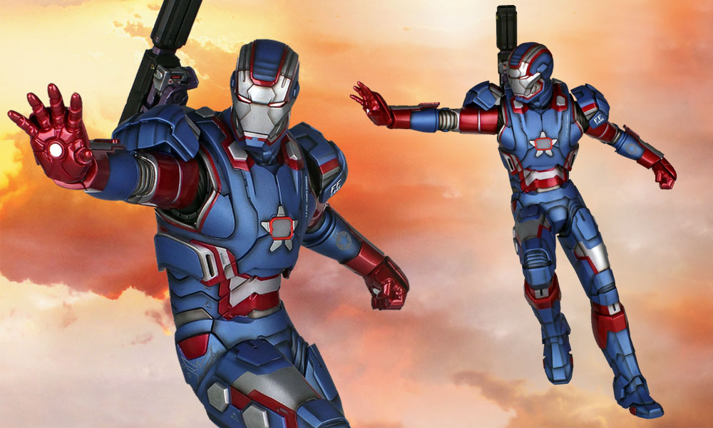Iron Patriot 1:4 Scale Light Up Statue by Gentle Giant