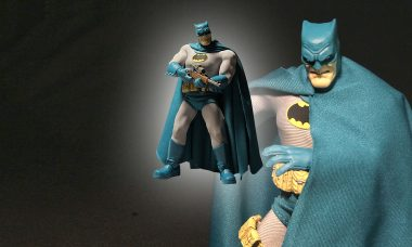 The Dark Knight Returns in Bright Blue Action