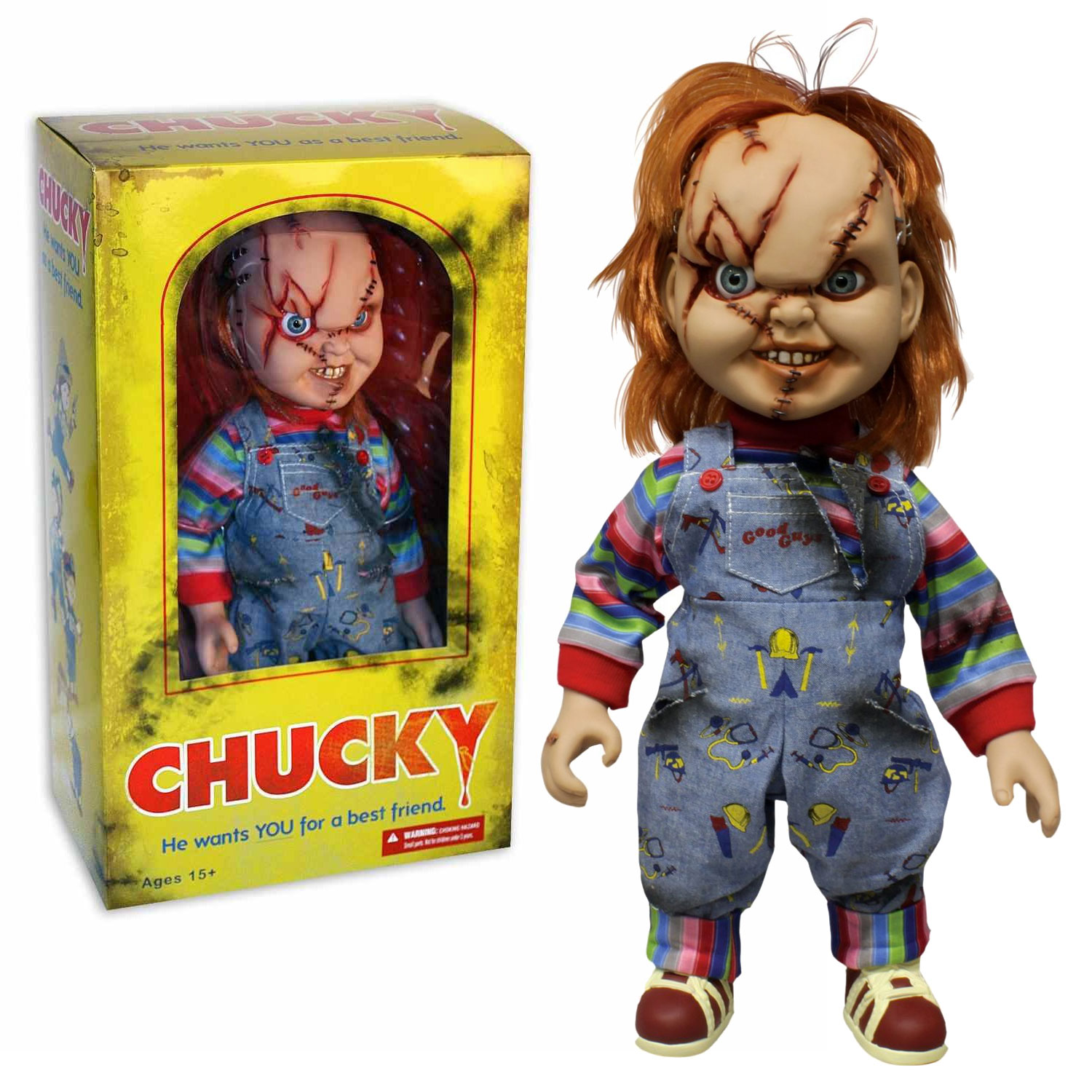 Mezco Childs Play Chucky 15-Inch Talking Figure