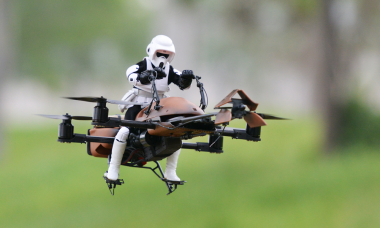 Be Amazed As You See a Star Wars Speeder Bike Take Flight