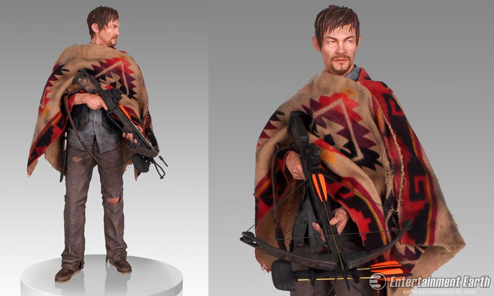 Armed With A Crossbow And Colorful Poncho This Statue Is