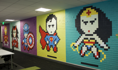 Post-It Made Superheroes Save These Office Workers from Boring Walls