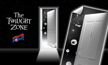 Walk Through Another Dimension with this Newly In-Stock The Twilight Zone Door Decal