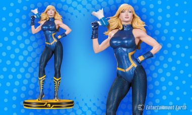 Black Canary's Shouting from the Rooftops as New Cover Girls Statue