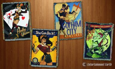 Sweet Dreams Are Made of DC Bombshell Woven Blankets