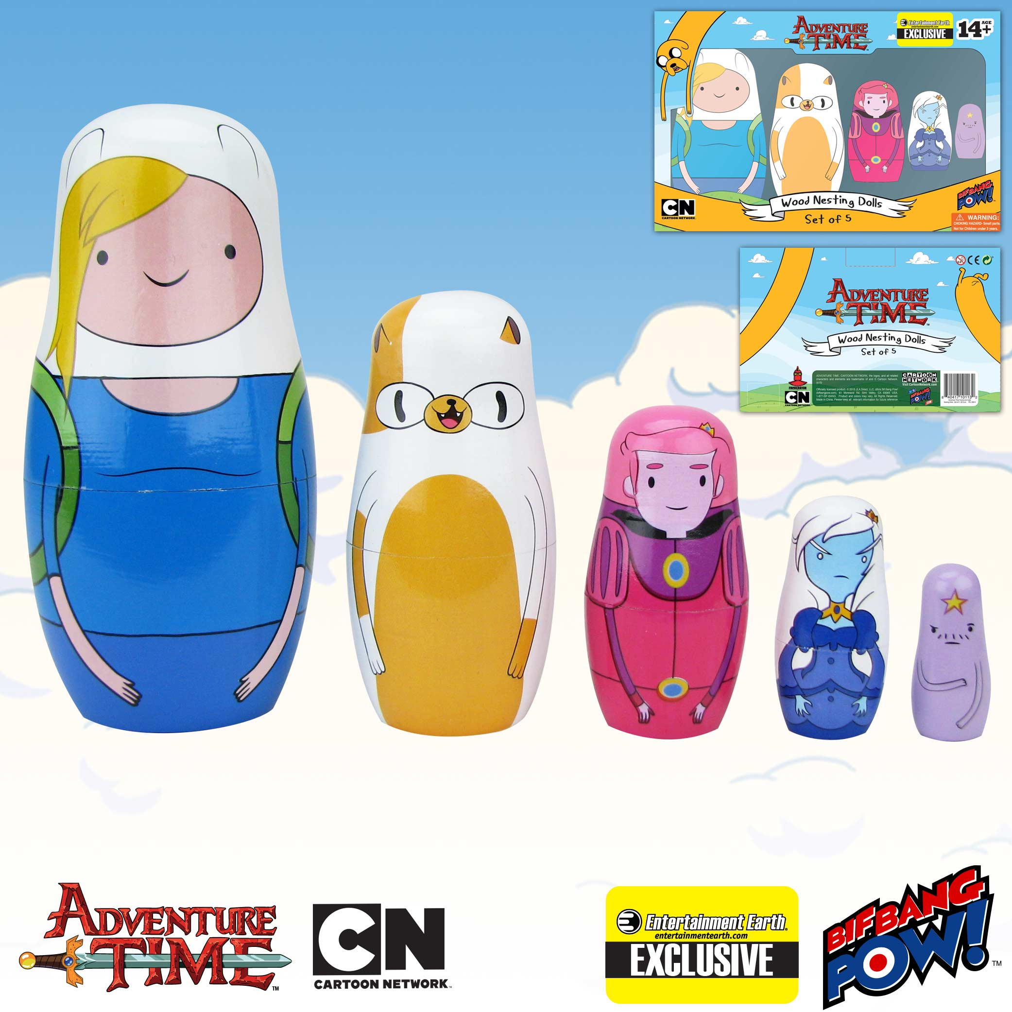Adventure Time Fionna and Cake Nesting Dolls