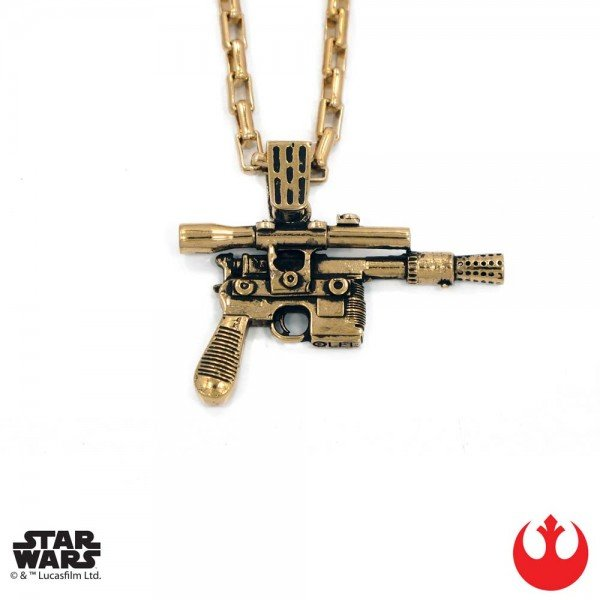 Han Blaster Gold Necklace