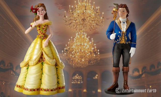 Beauty and the Beast Masquerade Statues
