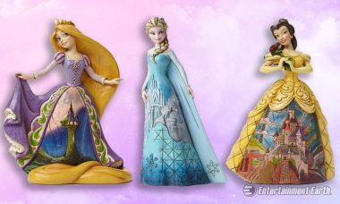 Gorgeous Disney Princess Statues Show off Their Castles