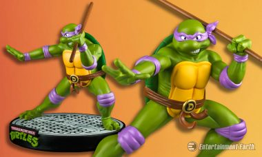 The Brainy Ninja Turtle Makes a Colorful and Lively Statue