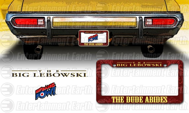 The Dude Abides License Plate Frame