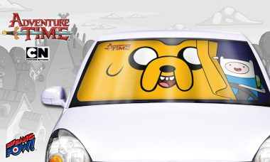 Move Aside, Jake… Finn's Behind the Wheel of This Newly In-Stock Adventure Time Sunshade