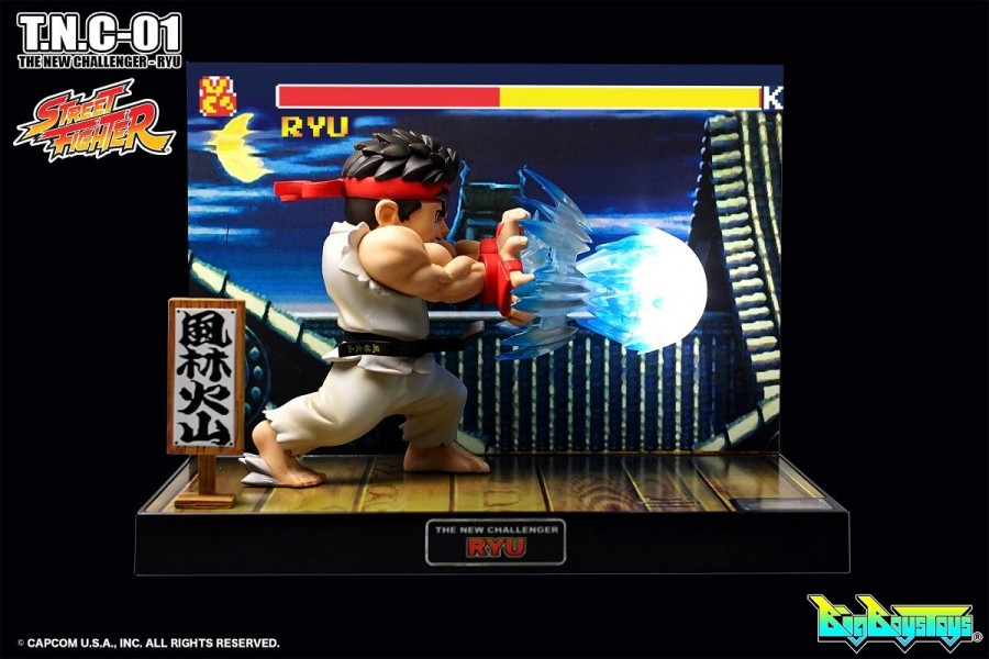 Street Fighter Ryu Figure and Diorama