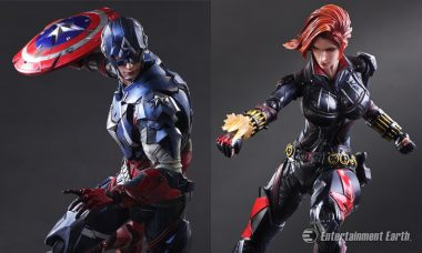 Captain America and Black Widow Are Ready for Their Next Play Arts Kai Mission