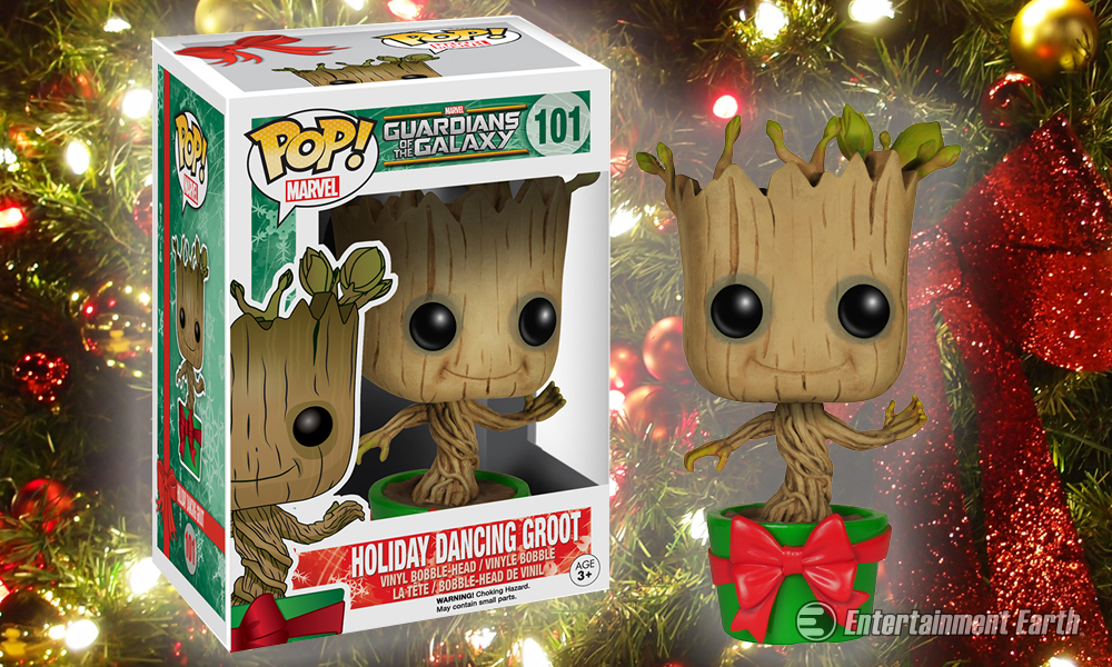 Christmas Groot Funko Pop.Baby Groot Gets Into The Holiday Spirit With New Pop Vinyl