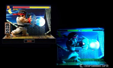 Celebrate Ryu's Hadouken Skills with Light-Up Street Fighter Figure and Diorama