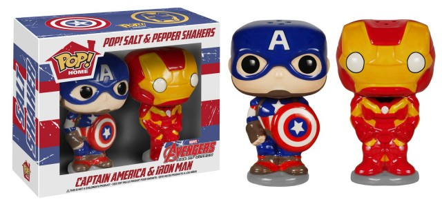 Captain America and Iron Man Salt and Pepper Shakers