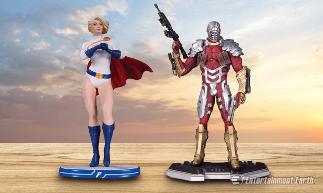 Powergirl and Deadshot Statues