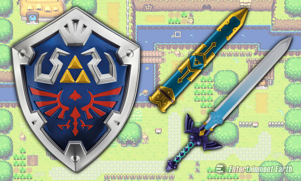 Protect Hyrule Against Ganon With Links Sword And Shield