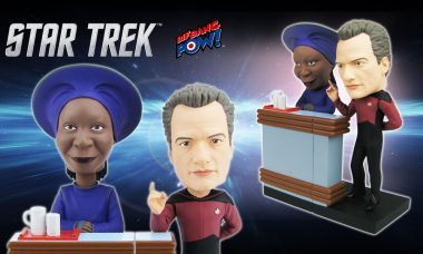 Raise Your Glass to the New Star Trek: The Next Generation Guinan and Q Bobble Heads