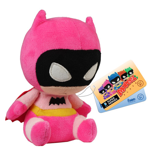 Batman 75th Anniversary Pink Rainbow Batman Mopeez Plush