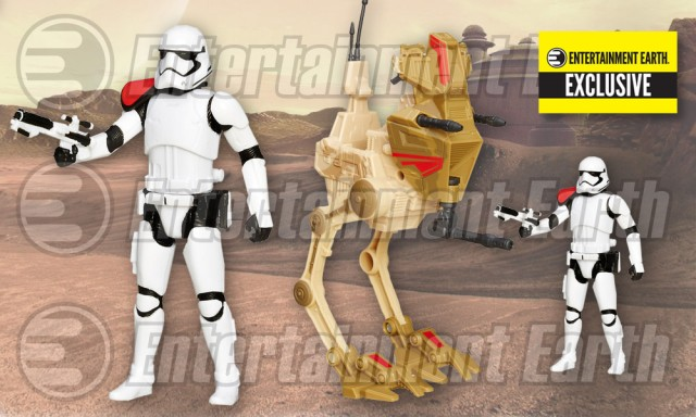 Star Wars The Force Awakens Desert Assault Walker with First Order Stormtrooper Officer - Entertainment Earth Exclusive