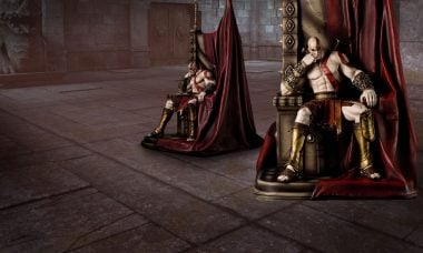 Kratos Takes the Throne as God of War with New Statue