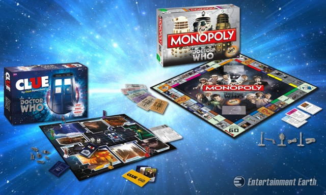 Doctor Who Monopoly and Clue