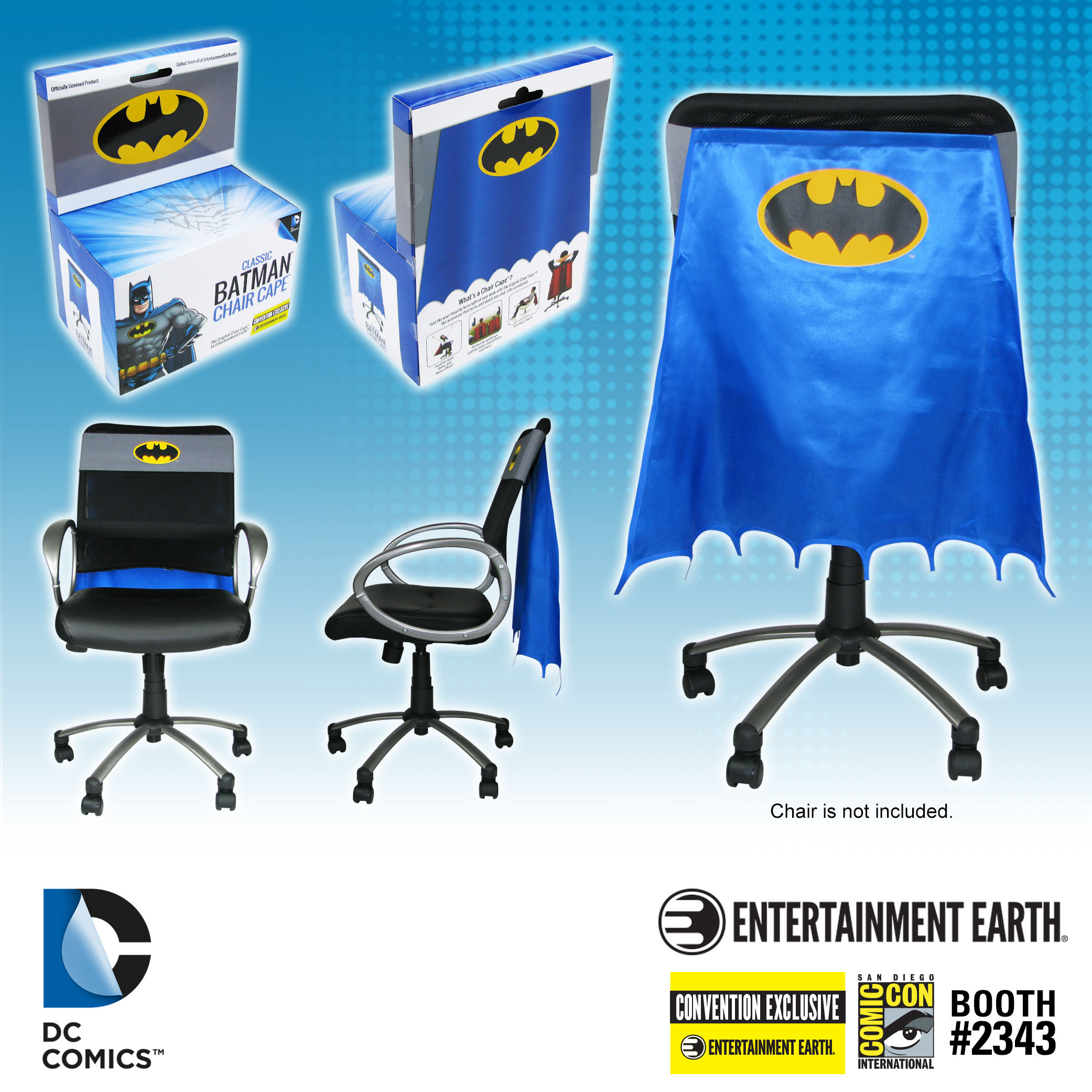 Superman Batman And Wonder Woman Chair Capes To The