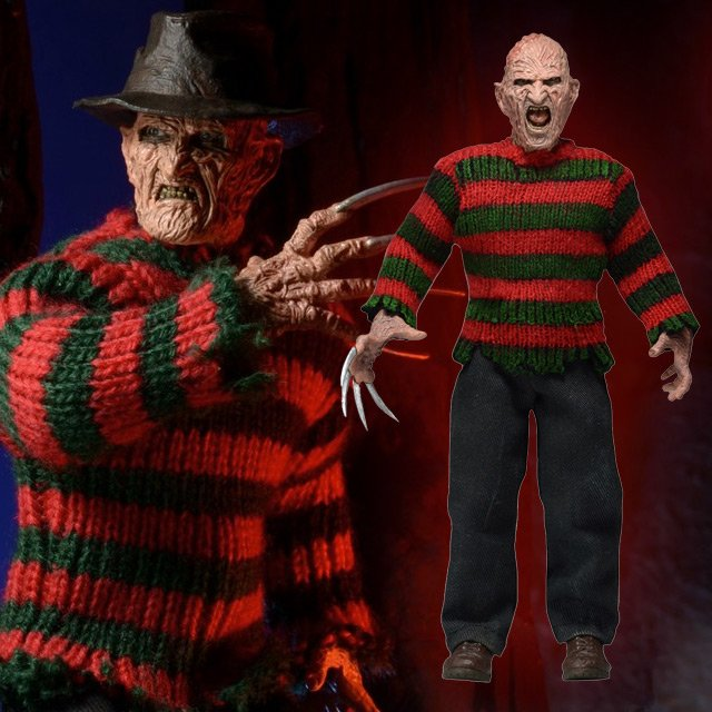 Nightmare on Elm Street Freddy Krueger 8-Inch Retro Action Figure