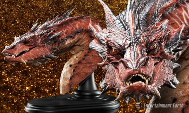 Smaug Awakens from His Slumber as New Bust from The Hobbit
