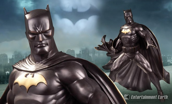 The dark knight strikes again as museum quality brass statue
