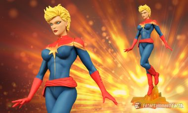 Captain Marvel Suits Up as First Marvel Femme Fatales Statue