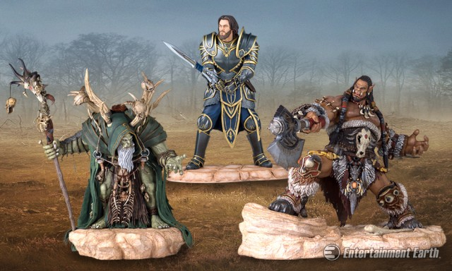 Warcraft Movie Statues by Gentle Giant
