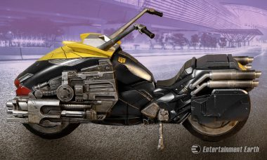 Zoom Through Mega-City One with Mezco's Judge Dredd Lawmaster Motorcycle Vehicle