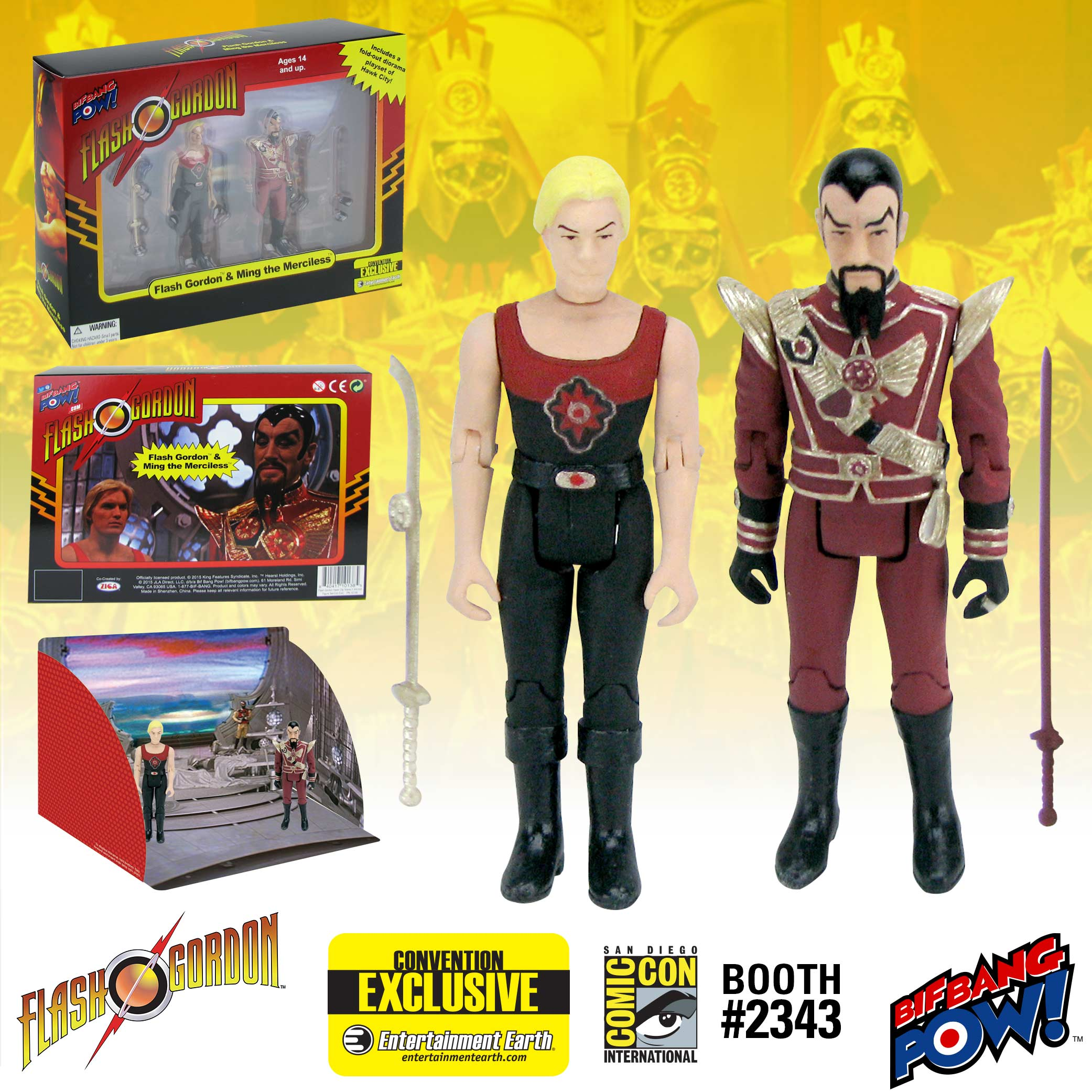Flash Gordon Hawk City Set
