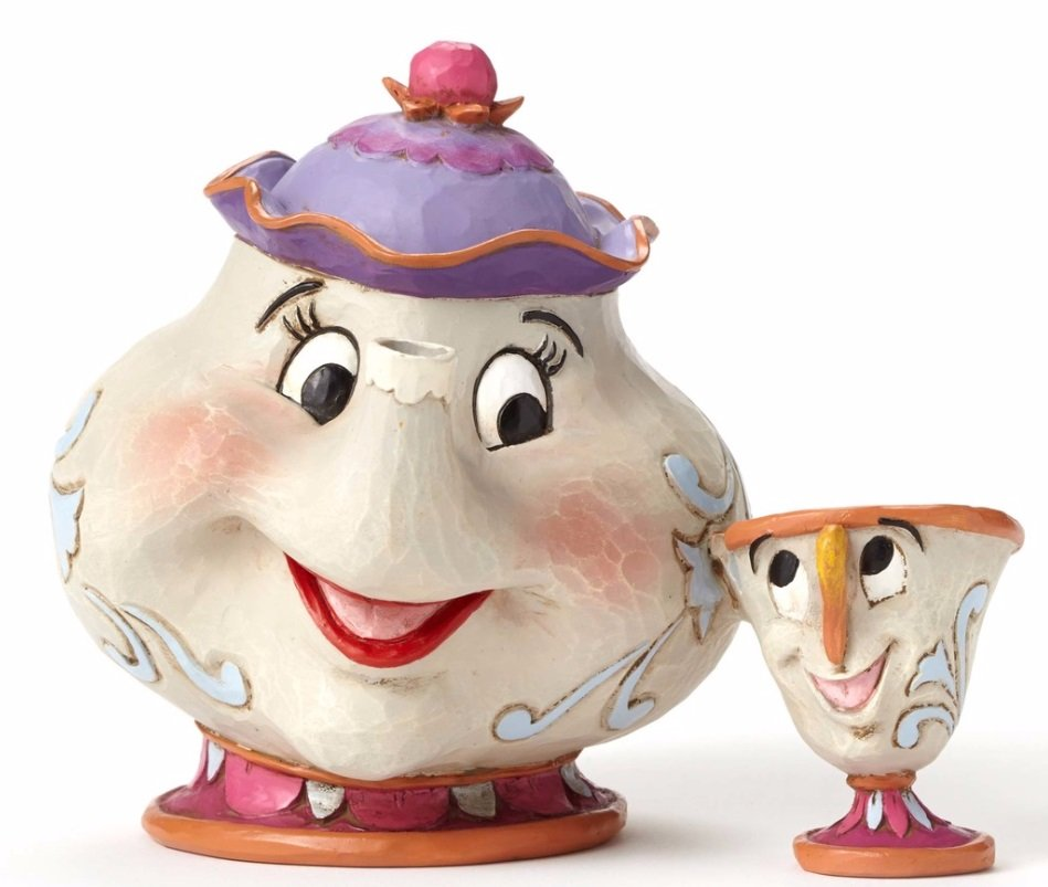 Mrs Potts and Chip Statue