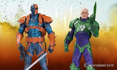 DC Comics Bad Boys, Lex Luthor and Deathstroke, Become Iconic Statues