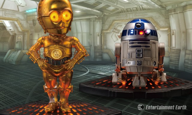 Star Wars C-3PO and R2-D2 Egg Attack Statue