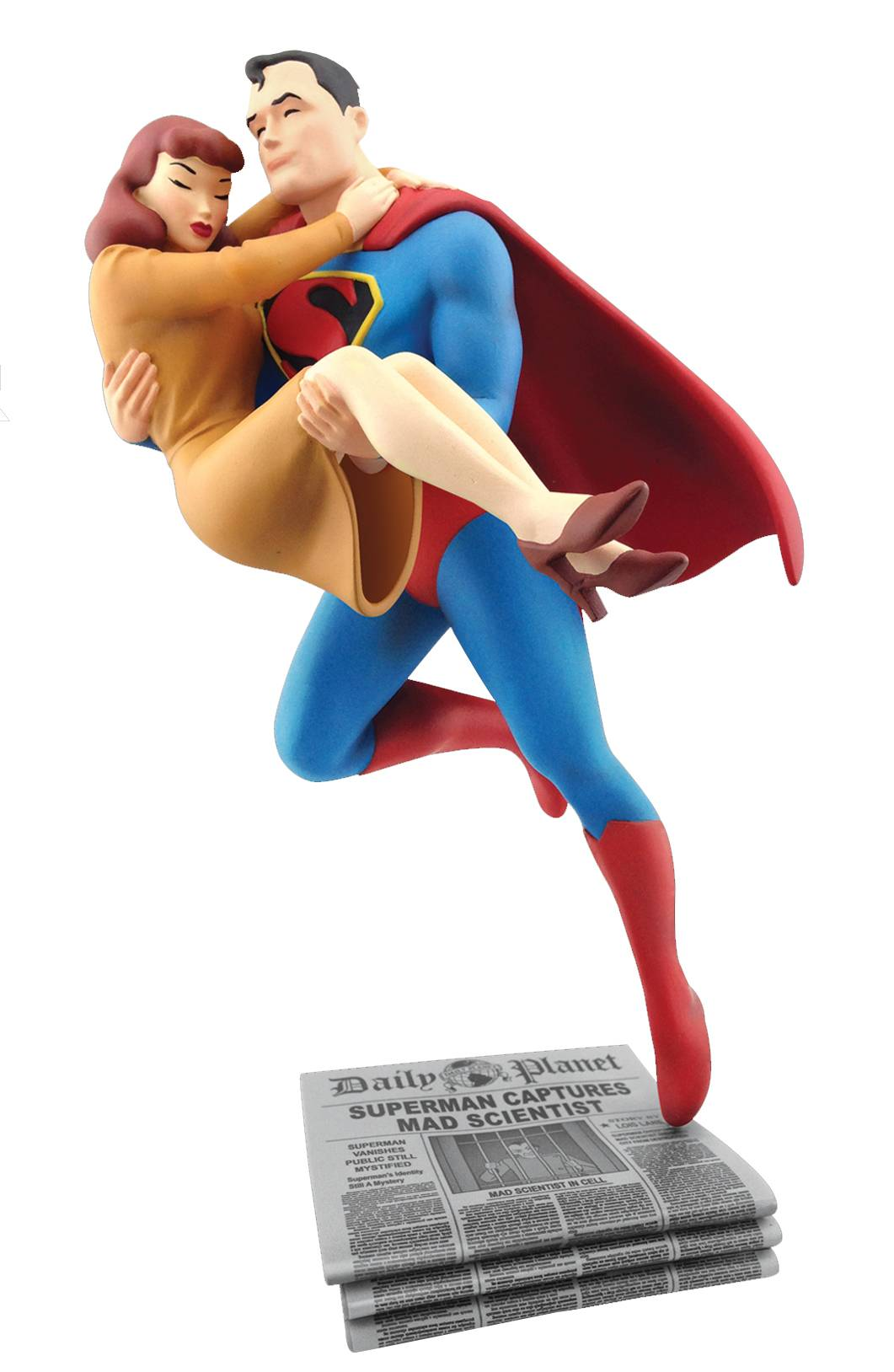 Make Headlines With This Superman And Lois Lane Rescue Statue In Your Collection