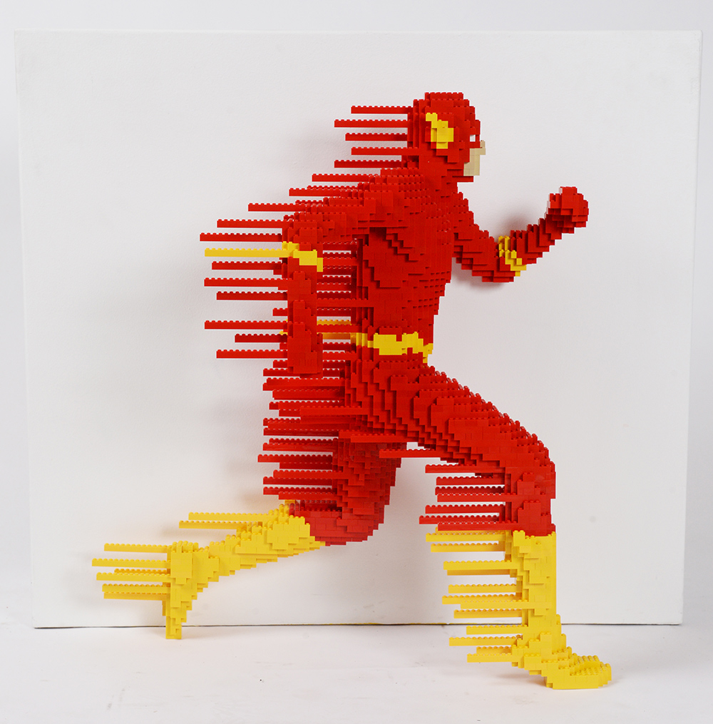 How are Lego sculptures in full size 65