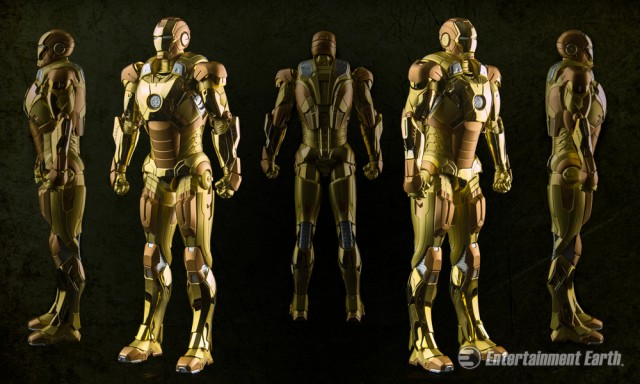 Iron Man 3 Mark 21 Action Hero Vignette with Lighted Hall of Armor 1:9 Scale Pre-Assembled Model Kit