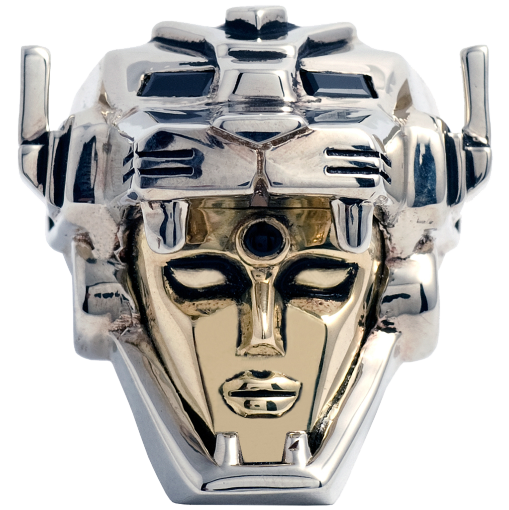 Voltron Head Sterling Silver Ring