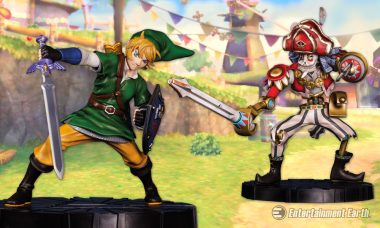 Skyward Sword Collectibles Soar with Link and Scervo 10-Inch Statues