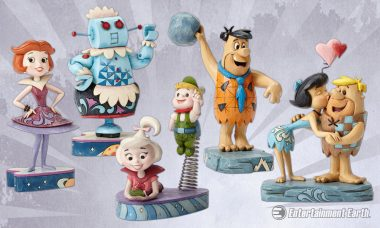 The Flintstones and The Jetsons Turned Folk Art in Jim Shores Hanna Barbera Statues